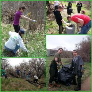 collage of volunteers