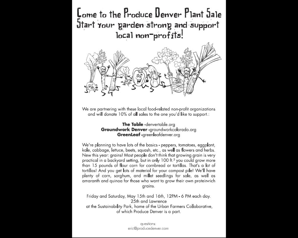 Produce Denver Plant Sale